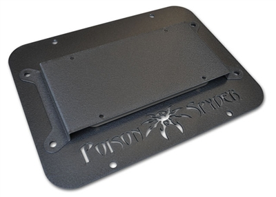 JK Tire Carrier Delete Plate II (Wide Vent) with License Plate Mount