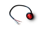 "3/4"" LED Marker Lamp - 3-Wire - Red"