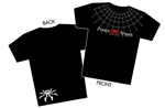 """Spyder Web"" Black T-Shirt - Men - 2X-Large"