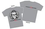 """Skully"" Gray T-Shirt - Men- 3X-Large"