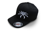 Spyder Logo FlexFit Ball Cap - Black - Small/Medium