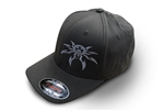 Spyder Logo FlexFit Ball Cap - Charcoal Gray - Large/X-Large