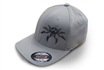 Spyder Logo FlexFit Ball Cap - Light Gray - Small/Medium