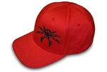 Spyder Logo FlexFit Ball Cap - Red/Black - Small/Medium
