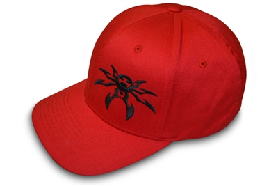 Spyder Logo FlexFit Ball Cap - Red/Black - Large/X-Large