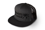 Poison Spyder Logo Flatbill Snap-Back Hat - Gray & Black