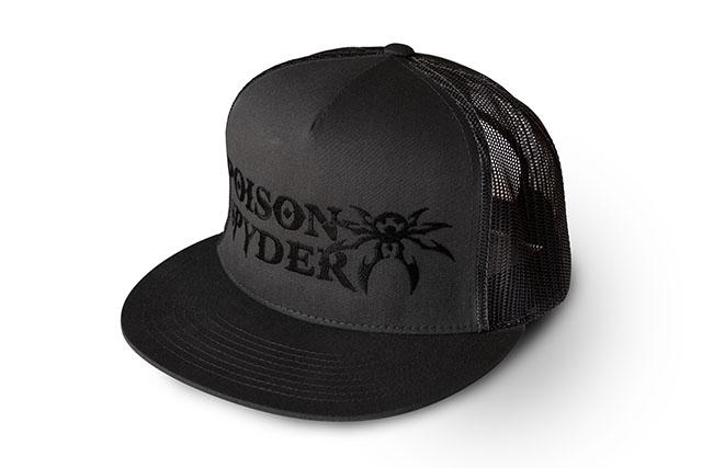 e3a2a6cfe2595 Poison Spyder Logo Flatbill Snap-Back Hat - Gray   Black