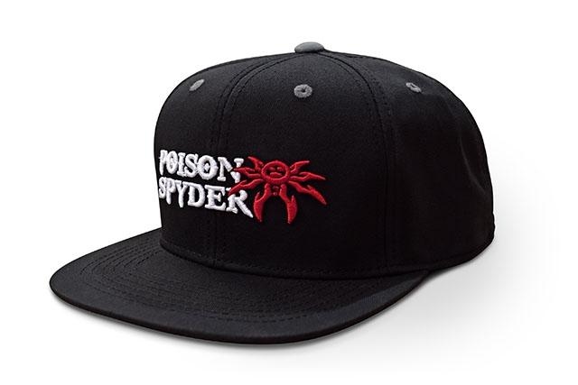 ae1358fa689b5 Poison Spyder Logo Flatbill Snap-Back Hat - Black - Puff