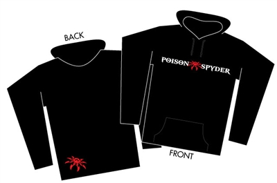 Poison Spyder Logo Black Pullover Hoodie - Small