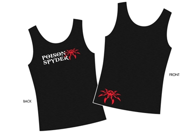 Ladies Poison Spyder Logo Black Tank - Large