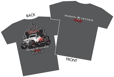 2017 Poison Spyder Racing T-Shirt - Men - 3X-Large
