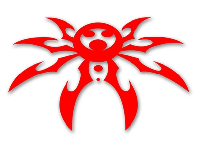 Large Spyder Hood Decal - Red