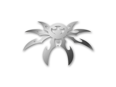 "Medium Spyder Decal 6"" X 9"" - Silver"