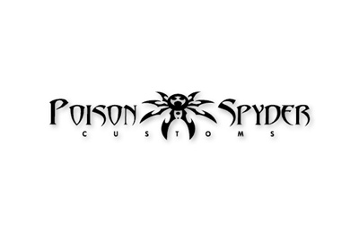 "Medium Poison Spyder Customs Logo Decal 12"" - Black"