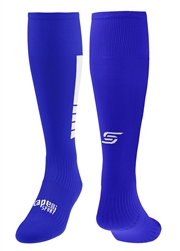 4 CUBE Soccer Sock with Ankle and Arch Support Blue