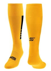 4 CUBE Soccer Sock With Ankle And Arch Support  Gold