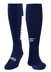 4 CUBE Soccer Sock With Ankle And Arch Support  Navy Combo