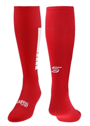 4 CUBE Soccer Sock With Ankle And Arch Support  Red