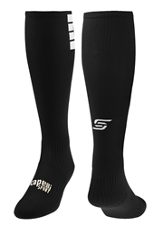 4 CUBE Knee High Soccer Sock Black