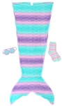 Capelli New York Mermaid Tail Set with Striped Socks and Sleeping Mask