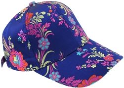 Capelli New York Ladies Multi Floral Baseball Hat with Buckle Closure