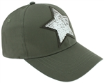 Capelli New York Ladies Star Baseball Hat with Reversible Sequiens Patch Detail