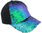 Capelli New York Ladies Baseball Hat with Reversible Sequin Front Panel and Brim