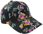 Capelli New York Ladies All Over Floral Brocade Baseball Hat
