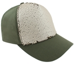 Capelli New York Ladies Reversible Sequin Front Panel Basebal Hat