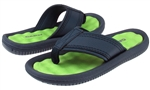 Capelli New York Boys Textured Flip Flops with Contrast Sock