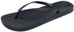 Capelli New York Ladies Fashion Flip Flops with Glitter Faux Leather