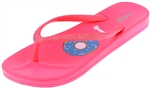 Capelli New York Ladies Gliitter I Donut Care Flip Flops