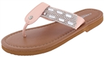 Capelli New York Girls Flip Flops with Gem and Rhinestones