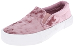 Capelli New York Girls Crushed Velvet Look Sneaker with Tonal Double Elastic Gores