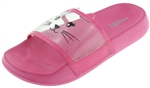 Capelli New York Girls Transparent Strap Slide with Kitty Face Printing