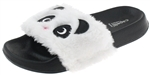 Capelli New York Girls Faux Fur Panda Fashion Slide