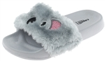 Capelli New York Girls Faux Fur Koala Fashion Slide