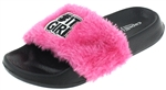 Capelli New York Girls Faux Fur It Girl Fashion Slide