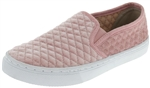 Capelli New York Girls Slip On Sneaker with Quilted Velvet Design