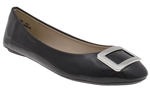 Capelli New York Ladies Patent Faux Leather Flat