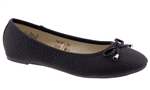 Capelli New York Snake Textured Faux Leather Ladies Flats
