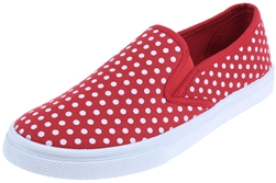 Capelli New York Ladies Polka Dot Printed Slip On Shoes