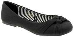 Capelli New York Ladies Flats with Braided Knot Detail