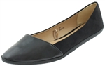 Capelli New York Ladies Faux Suede Asymmetrical Almond Toe Flats