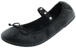 Capelli New York Ladies Faux Leather Fashion Flats