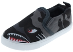 Capelli New York Toddler Boys Monster Shark Printed Slip On Shoes