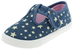 Capelli New York Toddler Girls Start Printed Denim Mary Jane Sneakers