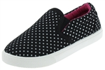 Capelli New York Toddler Girls Tiny Dots Printed Slip On Sneakers