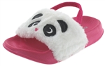 Capelli New York Toddler Girls Gleeful Panda Slide with 3D Ears and Elastic Backstrap