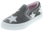 Capelli New York Toddler Girls Slip On Sneaker with Holographic Starts Applique